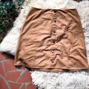 Monteau Suede Skirt, Size Small, VGC 🌿
